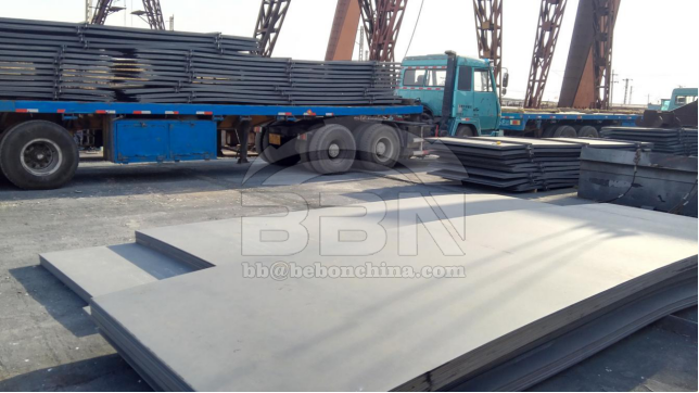 3584 tons ABS-A ship building steel plate to ISOICO shipyard in Iran