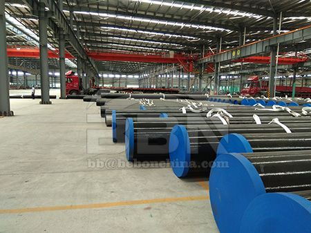 Shipbuilding steel pipe