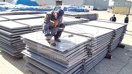 Tensile strength of ASTM A131 DH36 hull structural steel plate
