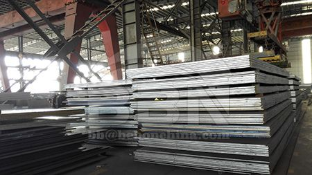 Delivery state of CCS grade A hull structure steel plate